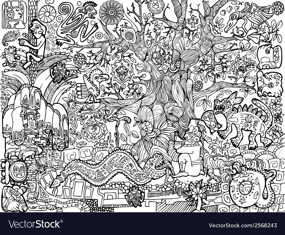 Maya Pictures background vector image