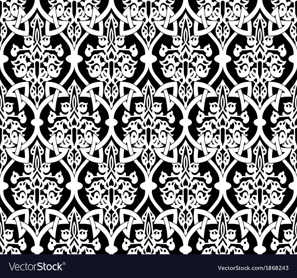 Seamless in Mosaic Ethnic Style vector image
