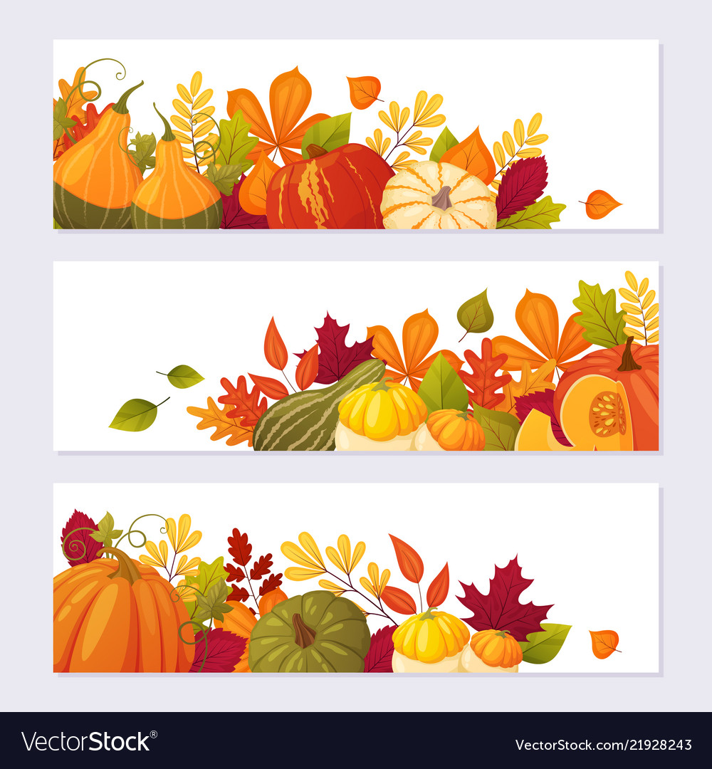 Set autumn banners