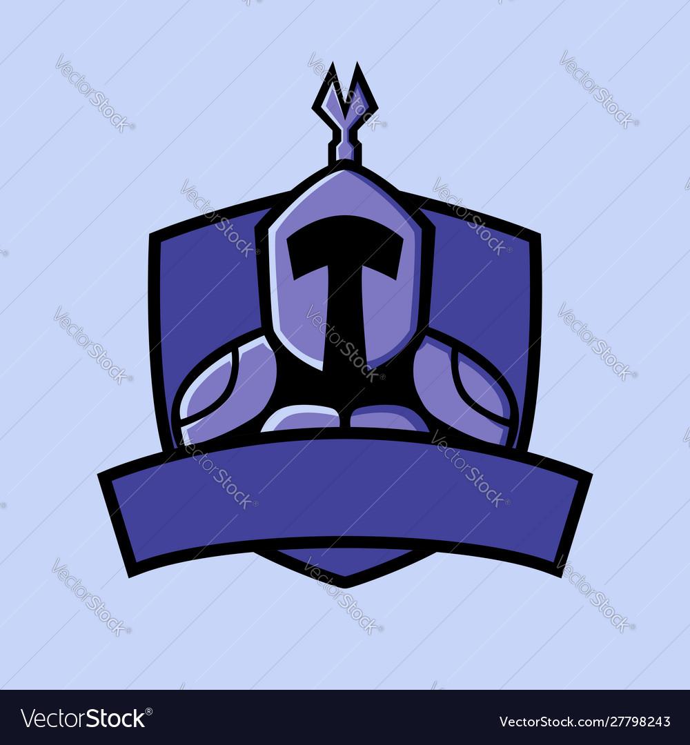 Titan with shield badge sport logo