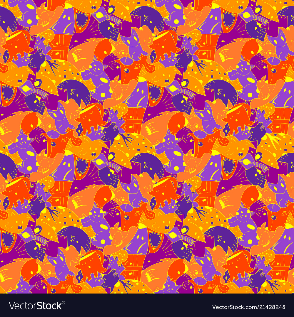 Bright background with fantastic creatures
