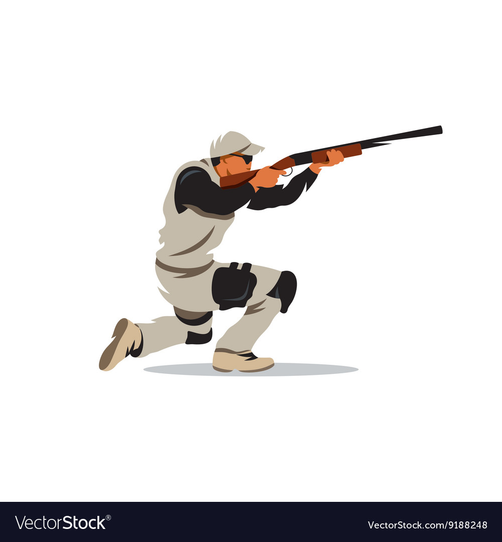 Clay Shooting Cartoon vector image