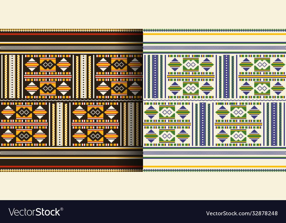 Ethnic seamless pattern cloth kente tribal print