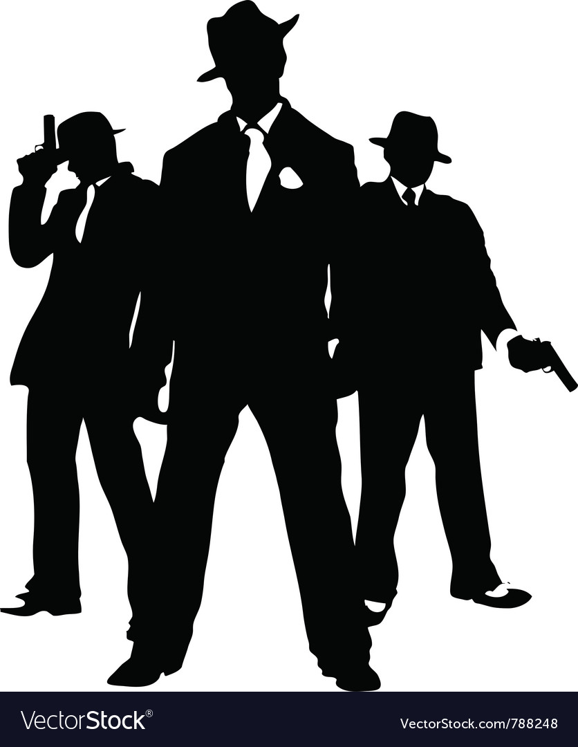 Gangster mafia vector image