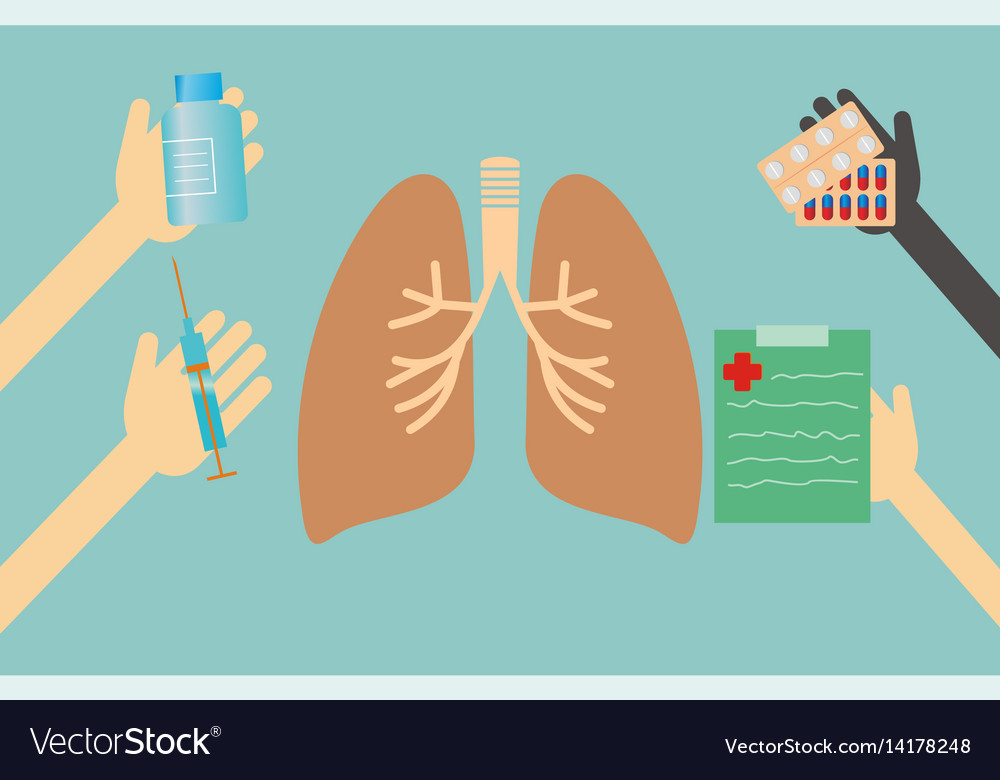 Healthcare concept - lungs