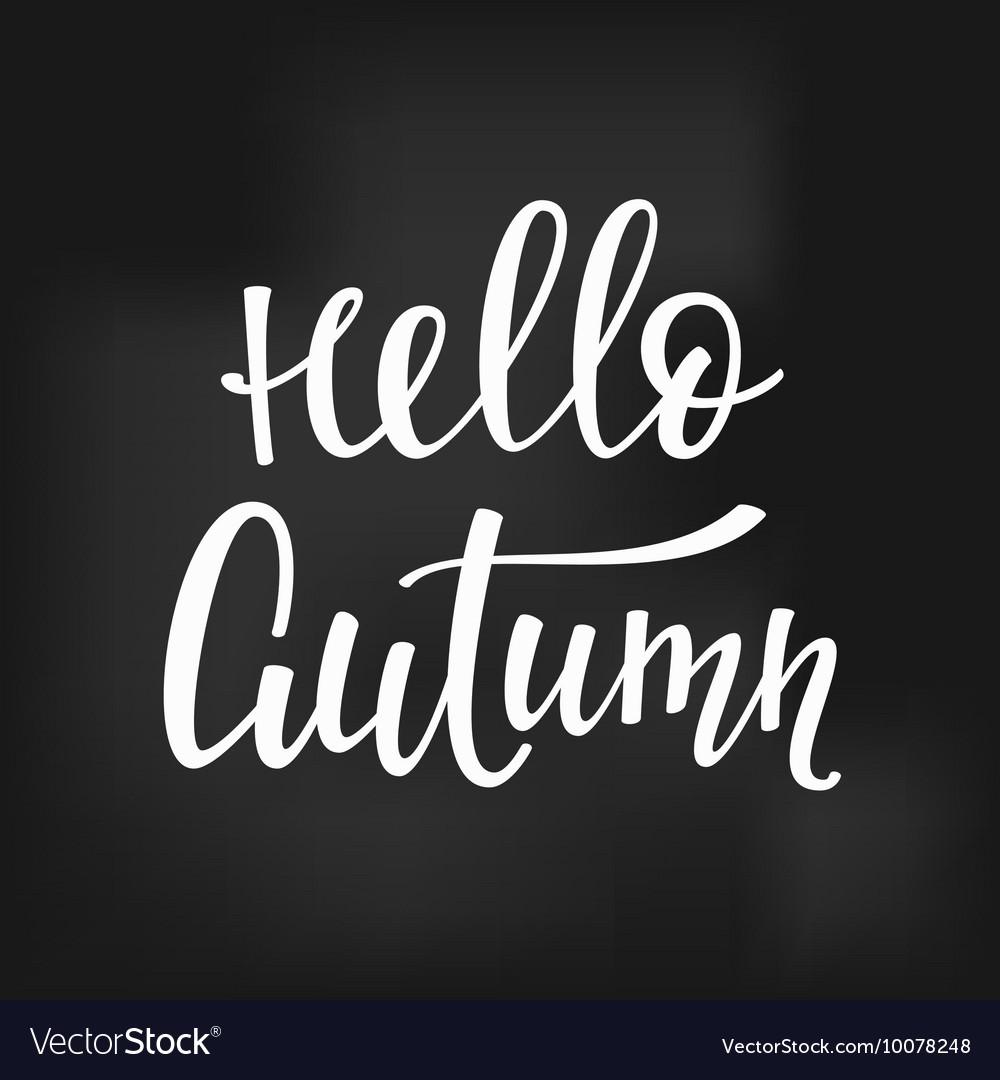 Hello Autumn quotes typography