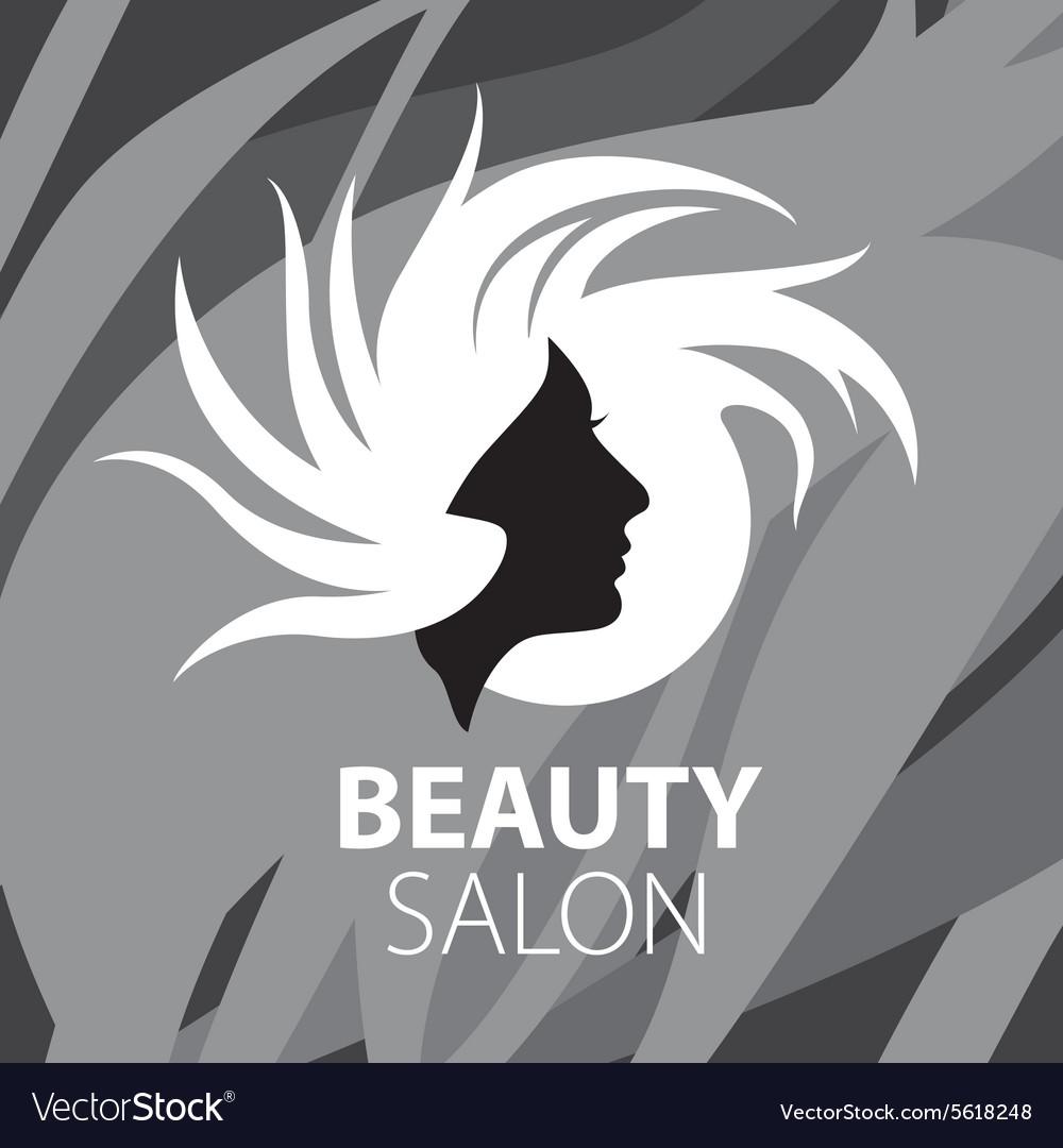 Logo womans head for the beauty salon vector image