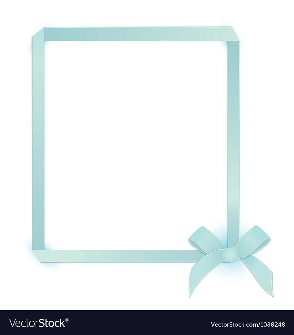 Ribbon blue bow frame