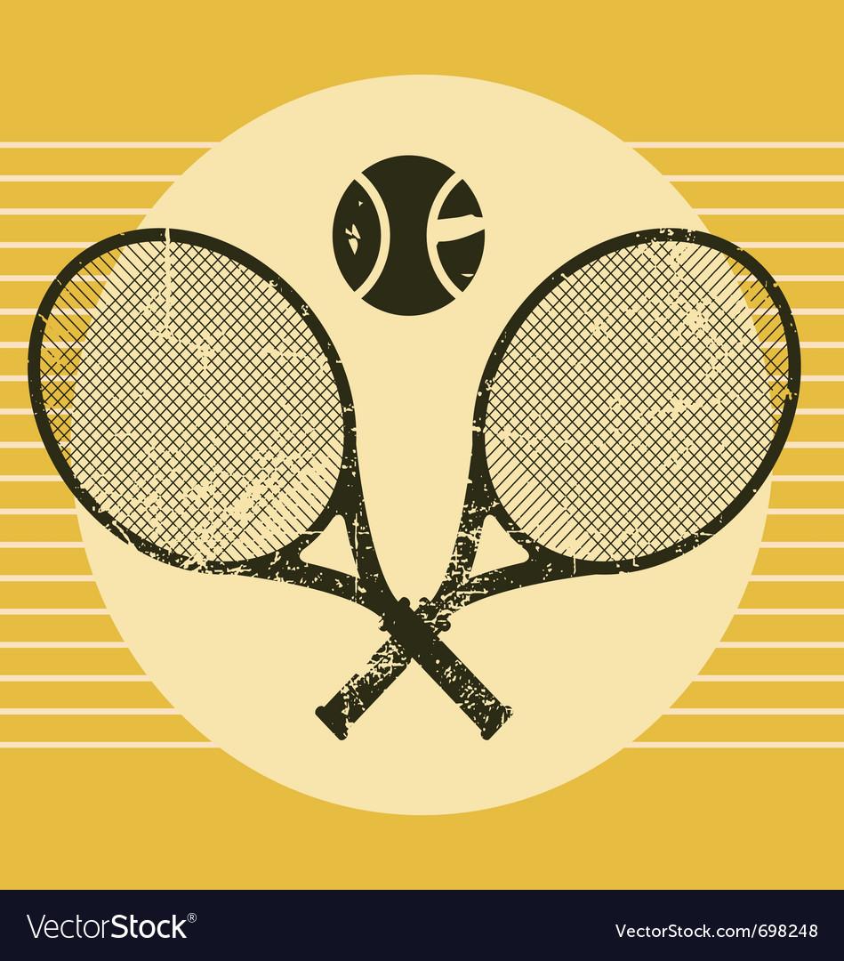 Vintage tennis equipments vector image