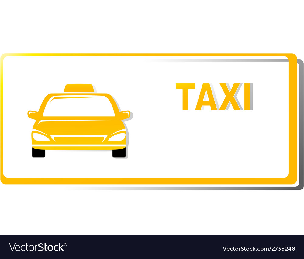 Yellow taxi business card Royalty Free Vector Image