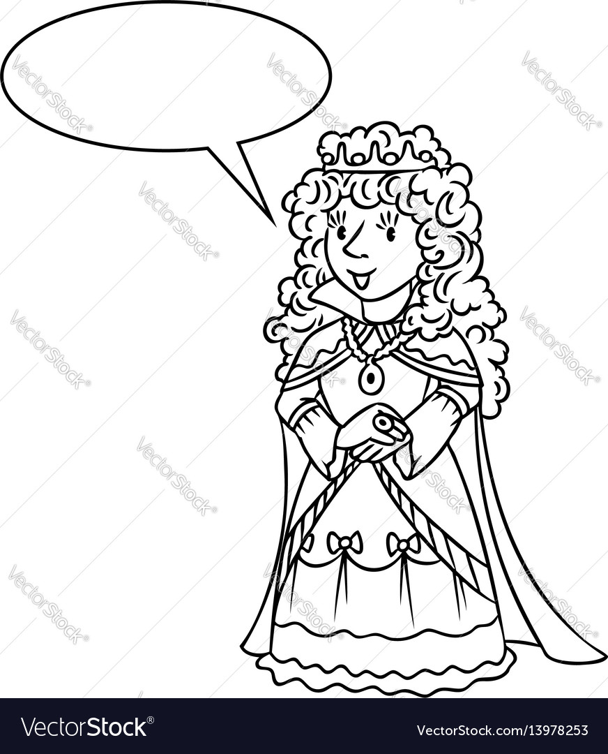 Princess, Outline, Queen & Fairy Vector Images (30)