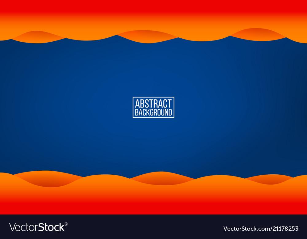 Dark blue layer background orange waves with