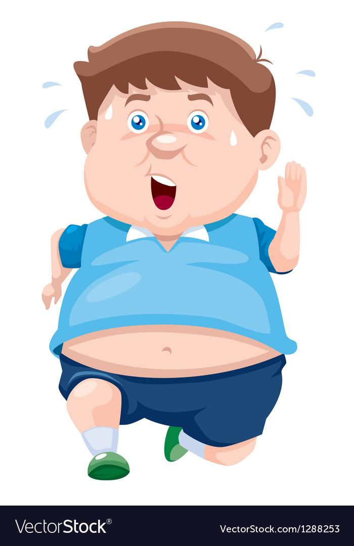 Fat Man Royalty Free Vector Image - Vectorstock-2924