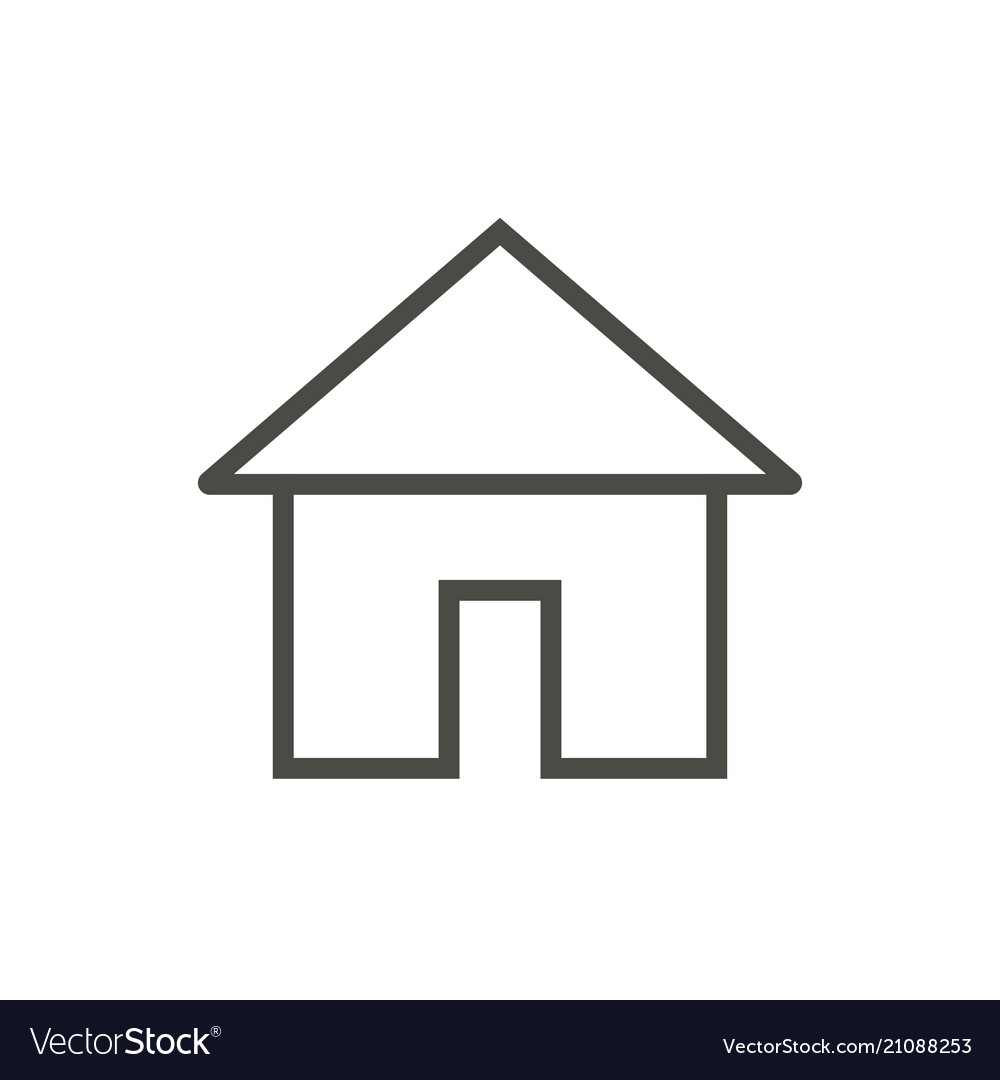 Home icon line main page symbol