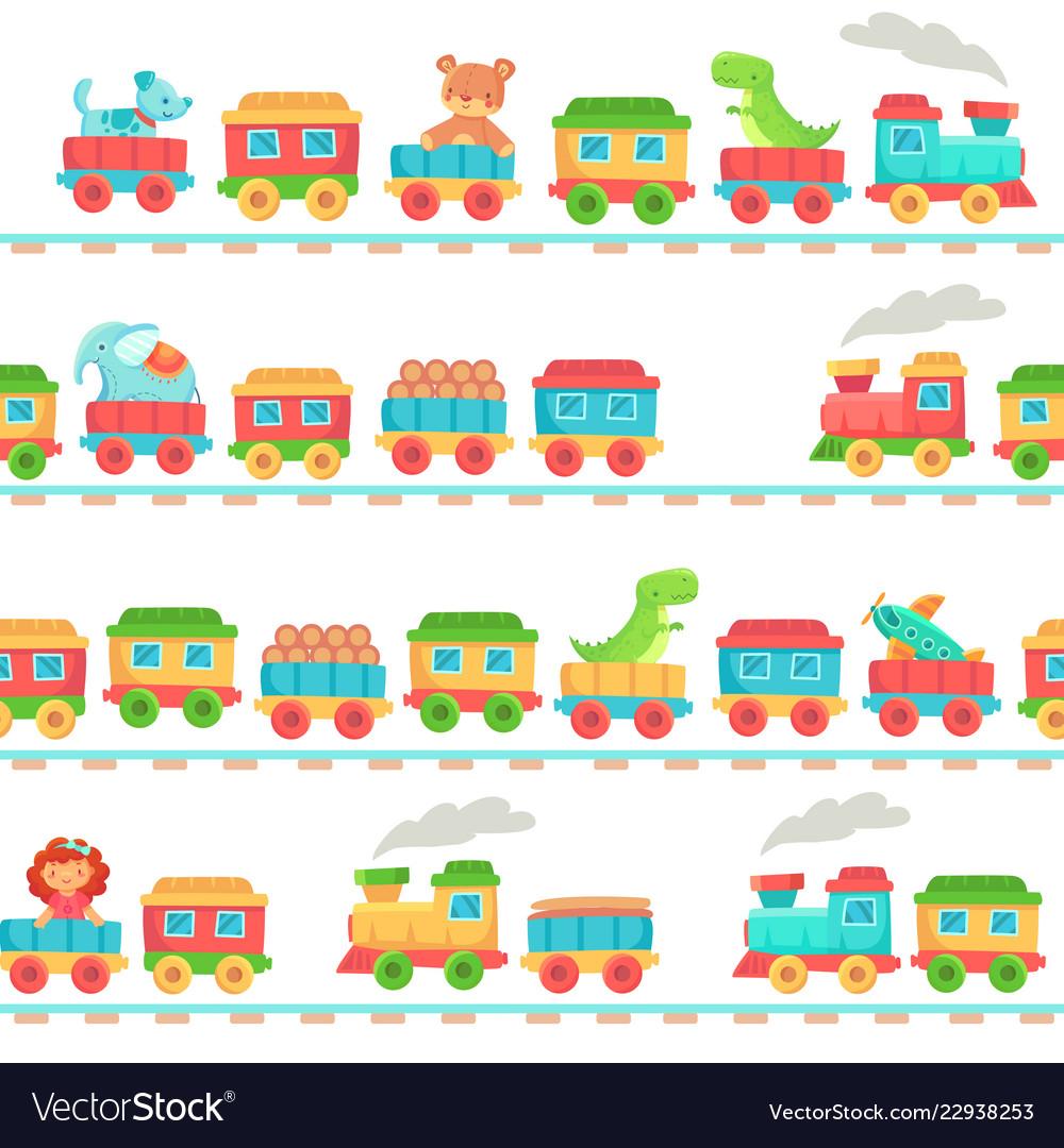 Kids toy train pattern children railroad toys
