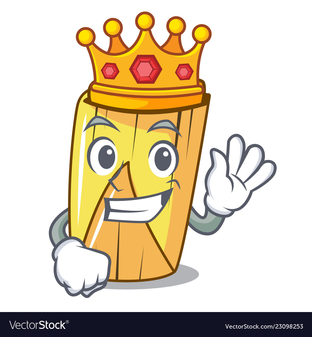 King Tamale With Corn Leaf In Cartoon Royalty Free Vector Growtopia getting leaf board and leaf crown! vectorstock