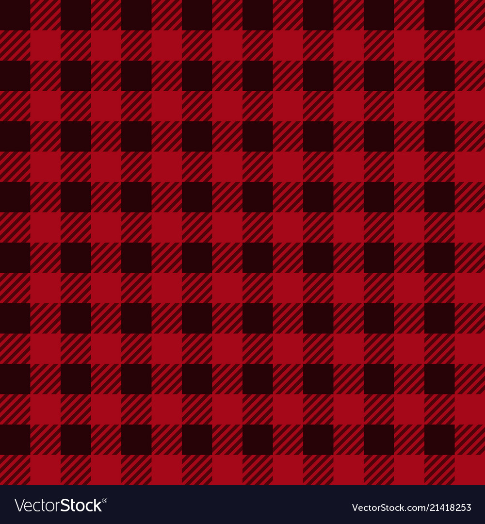 Lumberjack plaid seamless pattern in red black