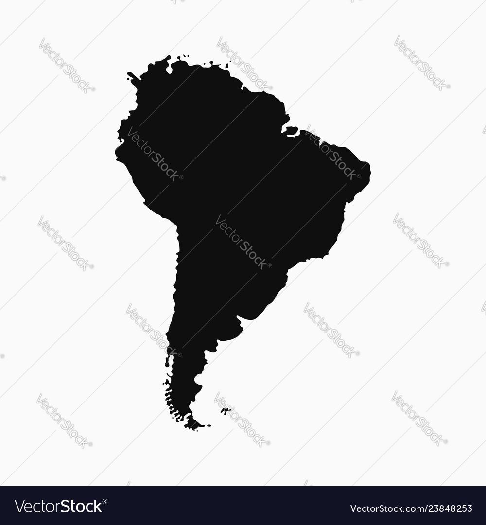South america map - monochrome shape