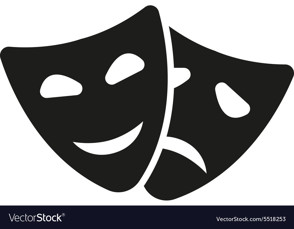 The theater and mask icon Drama comedy tragedy