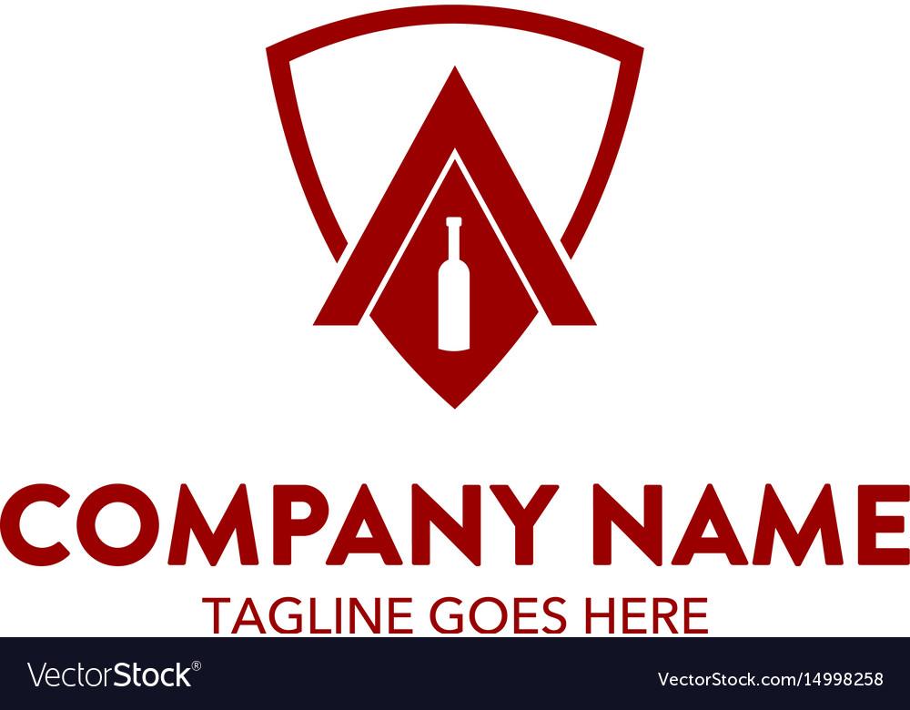Bar beverage logo template