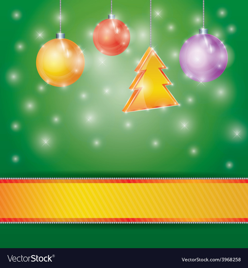 Celebration light background with ribbon Christmas vector image