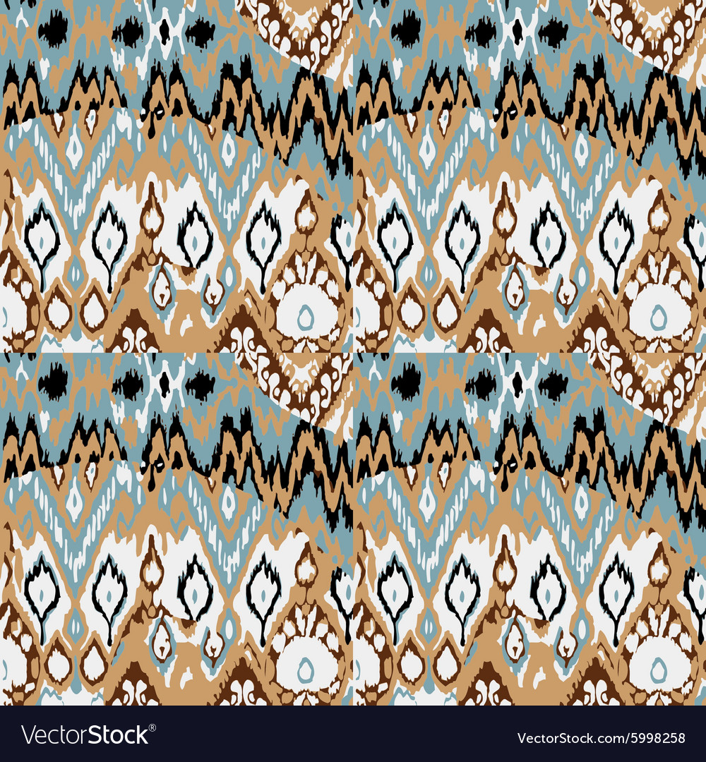 Colored seamless ethnic print pattern abstract