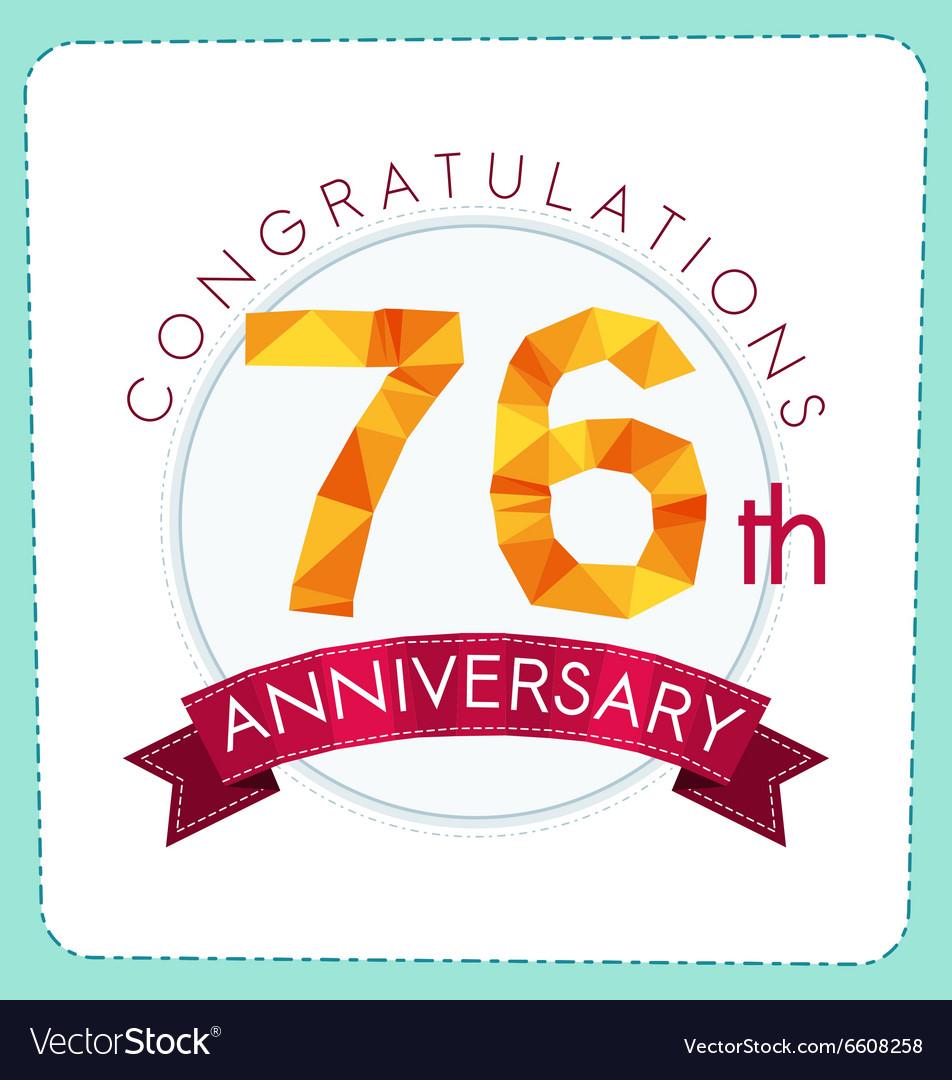 Colorful polygonal anniversary logo 3 076