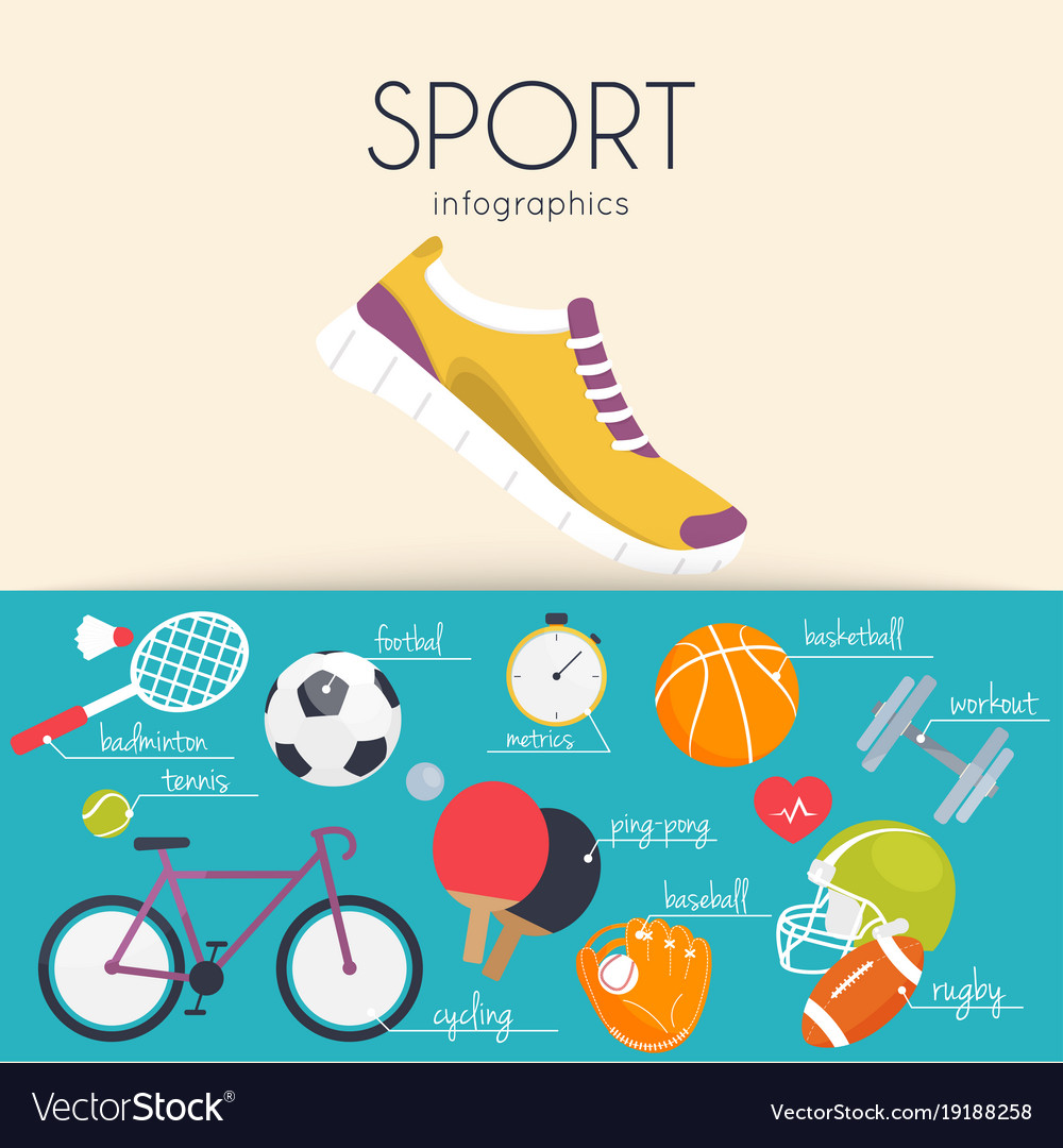 Concept sport infographics icons for web