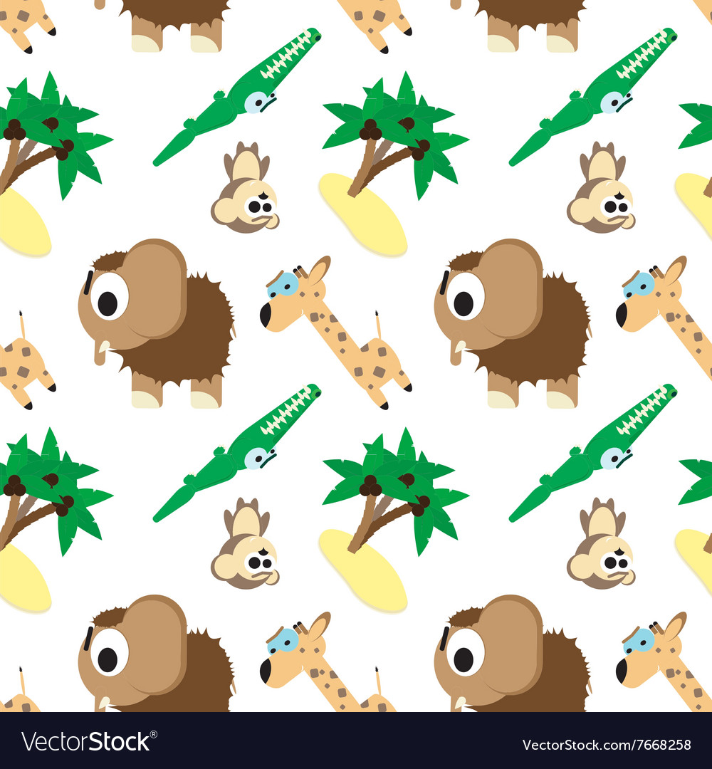 Funny pattern angry animals