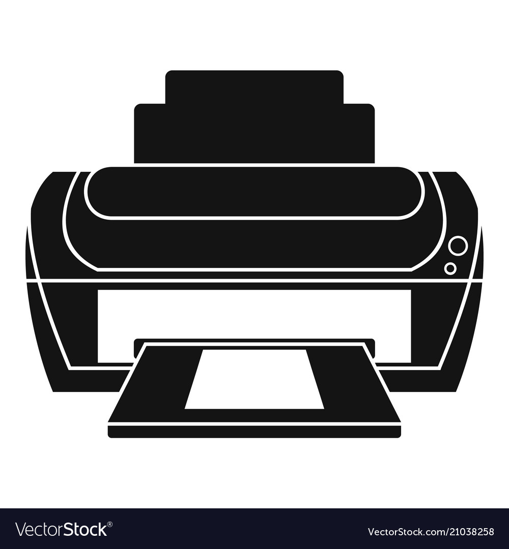 photo printer icon simple style royalty free vector image vectorstock