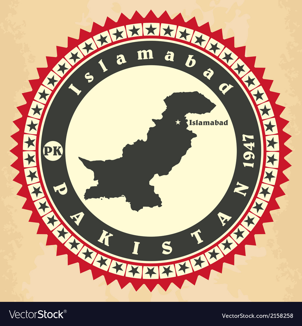 Vintage label-sticker cards of Pakistan