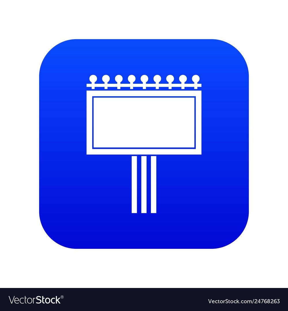 Board for statistics icon digital blue