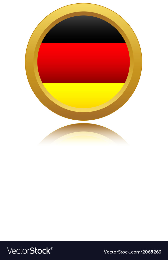 Germany Flag Glossy Button vector image