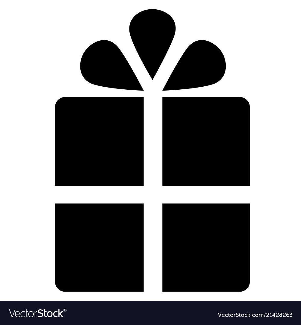 Gift box icon on white background gift symbols