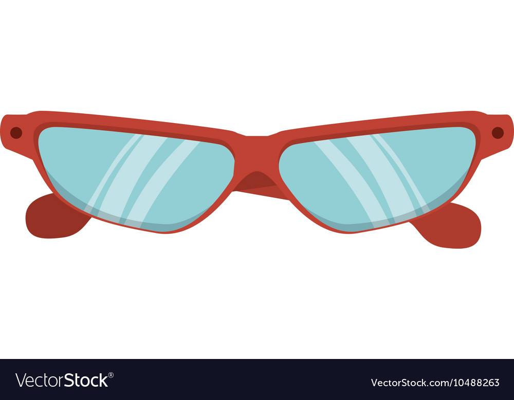 Glasses eyewear sport vector image