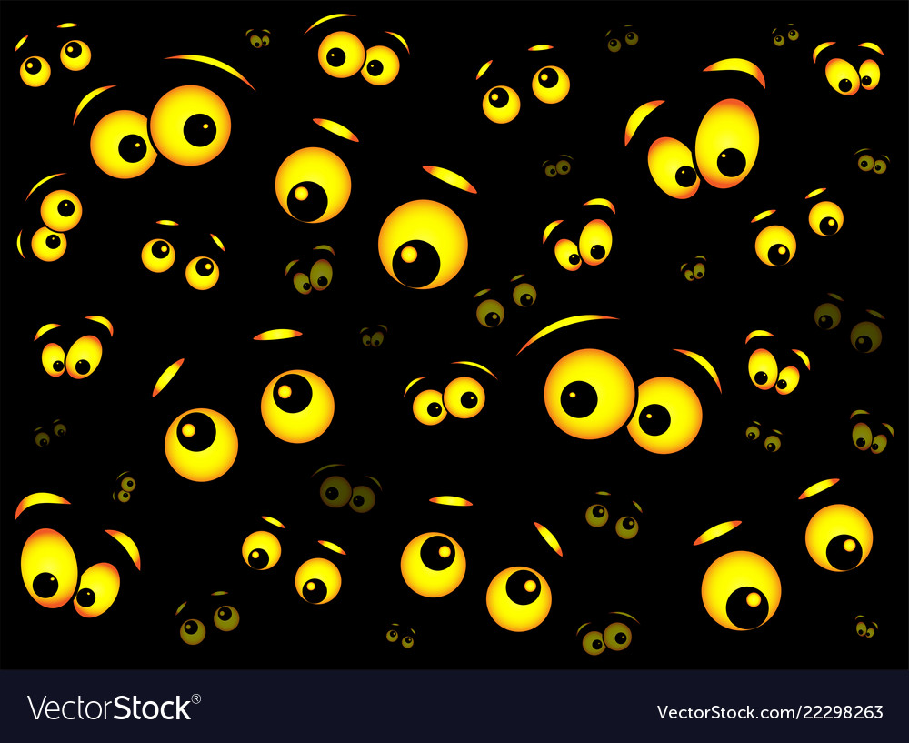 Halloween Spooky Scary Eyes Design Isolated On Vector Image