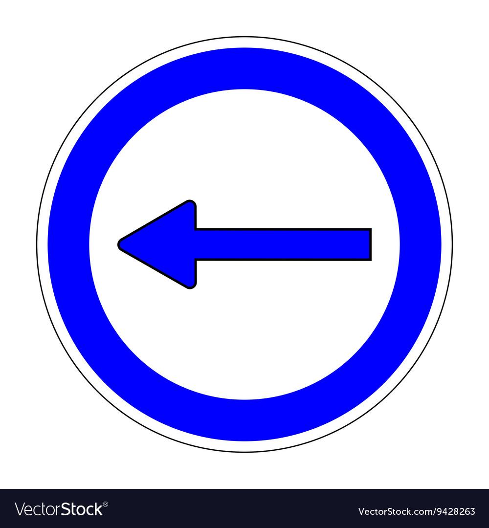 Keep Left sign on white background 703