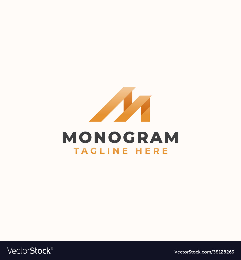 Letter m monogram concept logo template