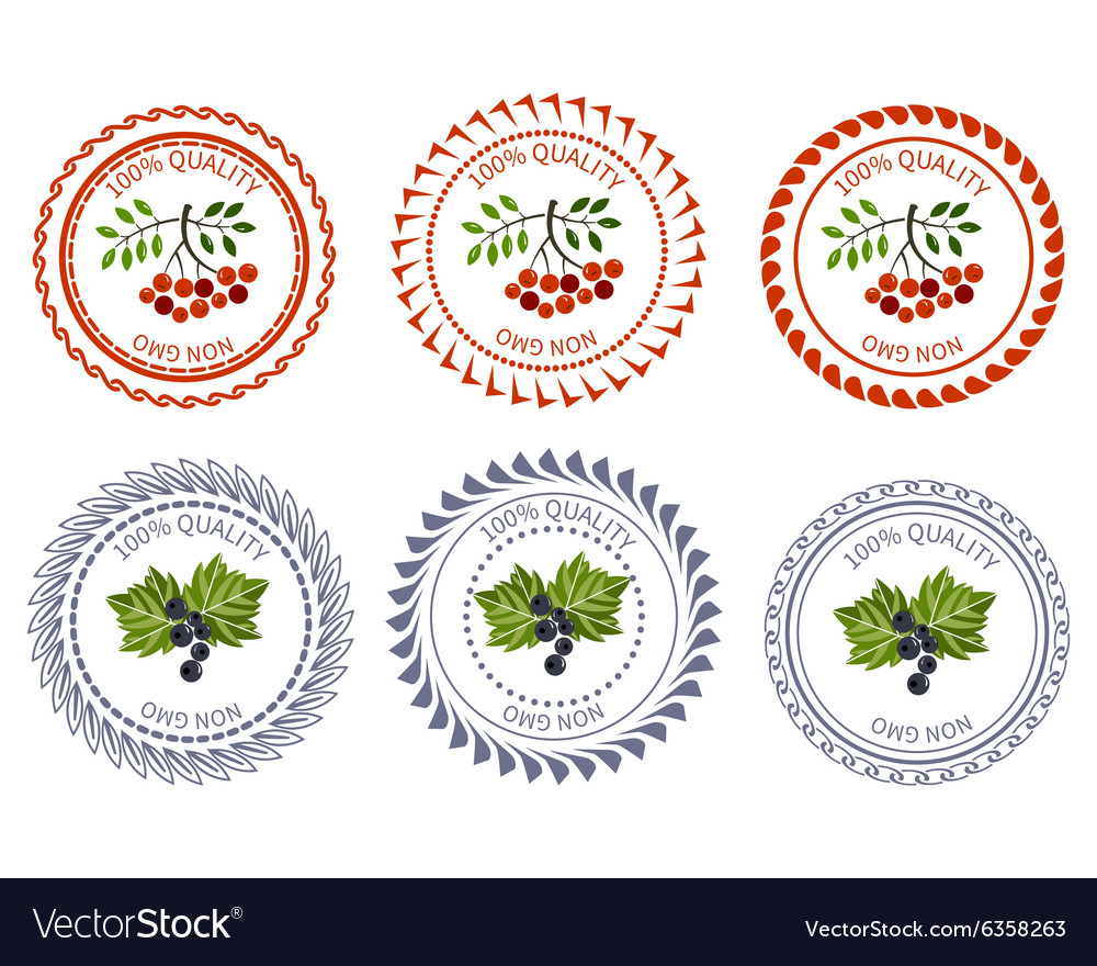 Logo currant and rowan design element package