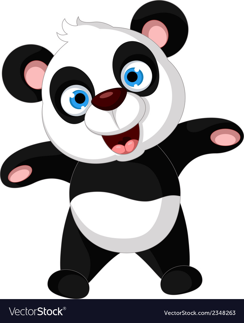 Panda cartoon dancing