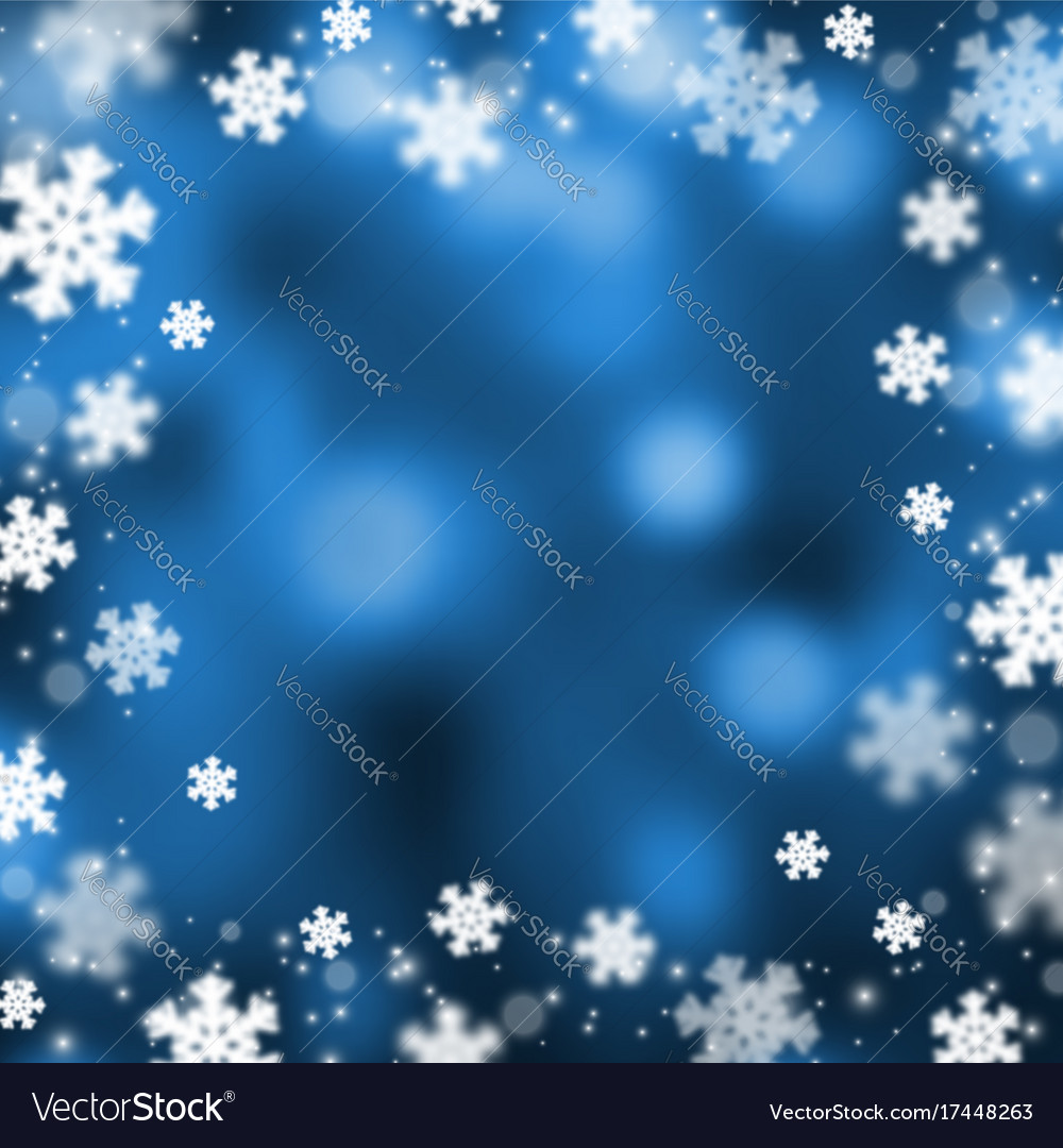 Snowflakes christmas abstarct background vector image