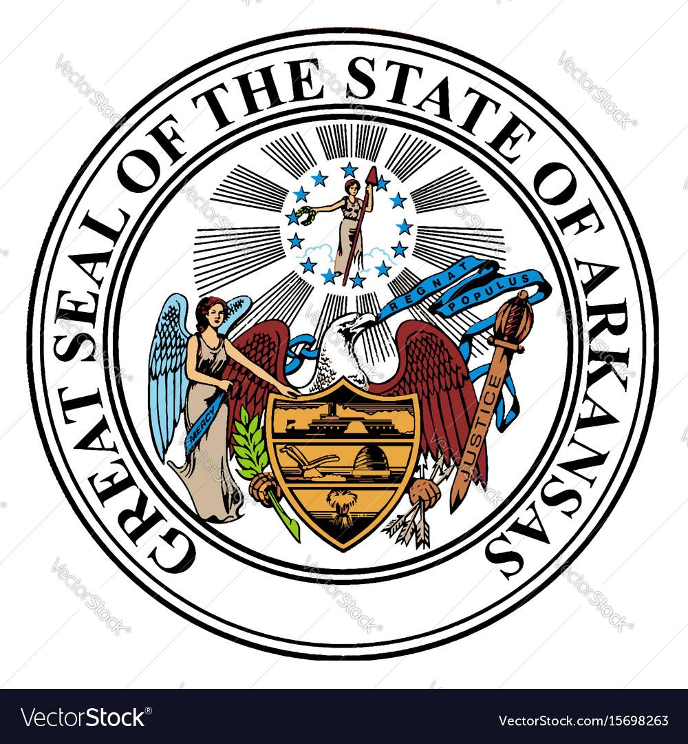 state seal of arkansas royalty free vector image
