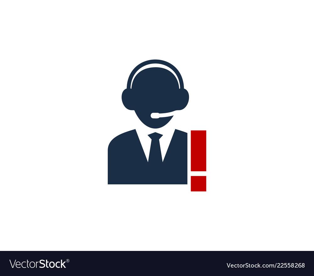 call center logo icon design royalty free vector image vectorstock
