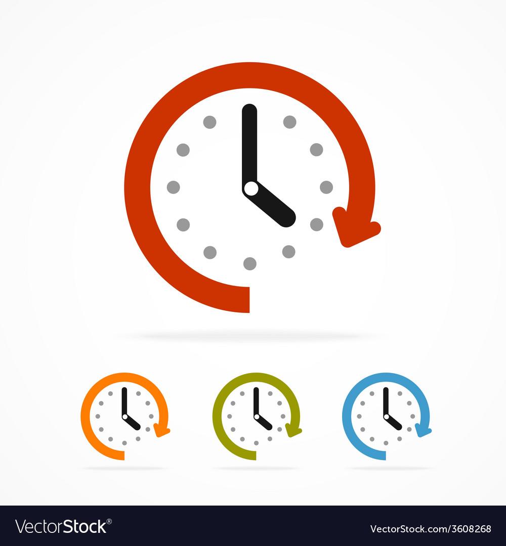 Color clock icon vector image