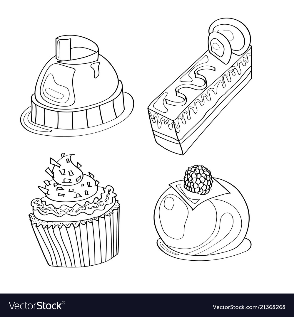 Coloring book coloring page cake sweet bakery