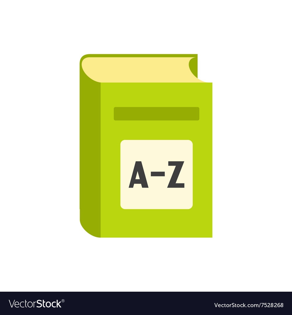 English dictionary flat icon