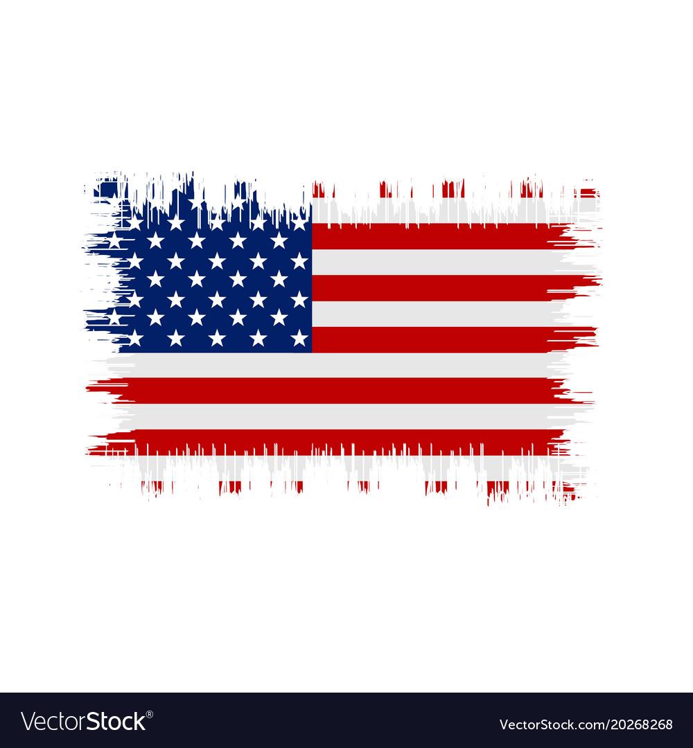 Grunge american flag flag of usa