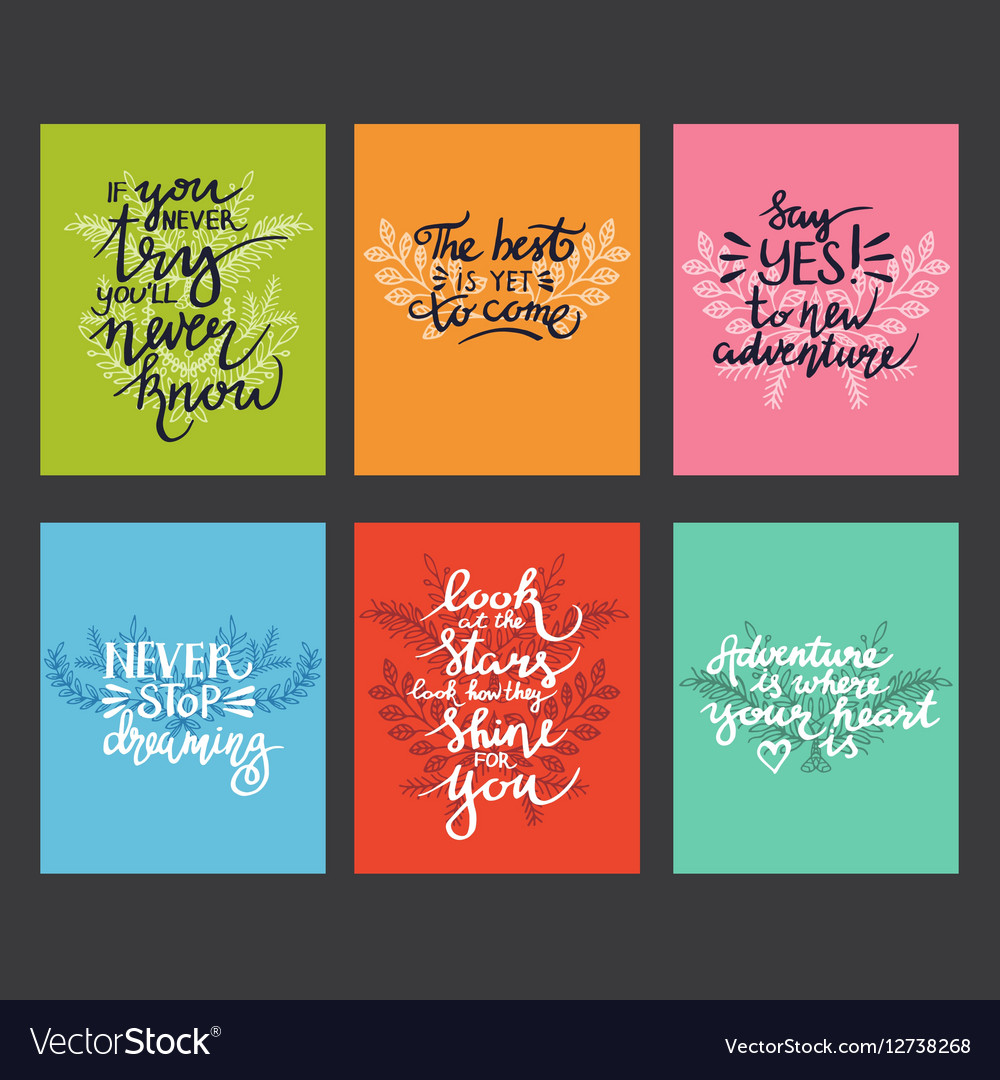 Lettering positive quotes