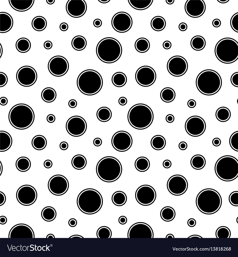 Mosaic seamless pattern with circles and dots vector image