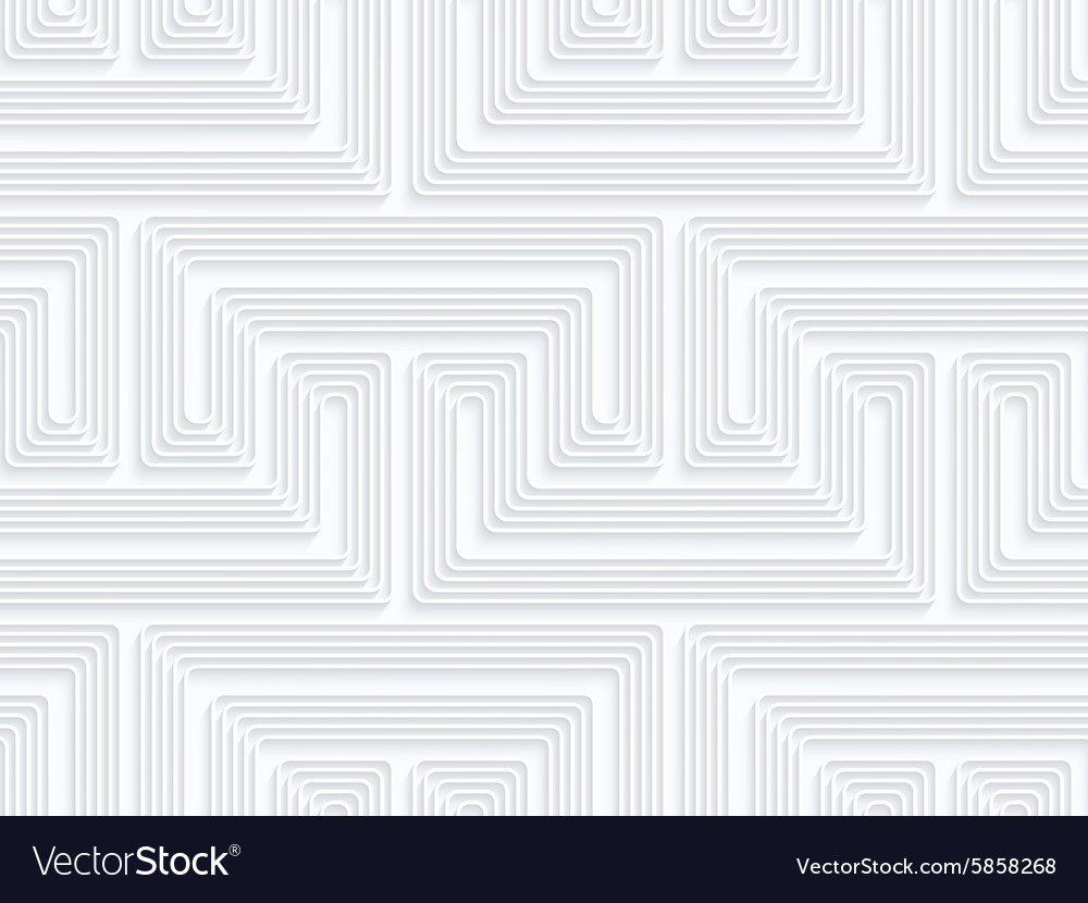 Quilling paper fastened arcs with offset vector image